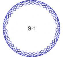 Косичка для печати образец S-1