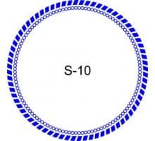 Косичка для печати образец S-10