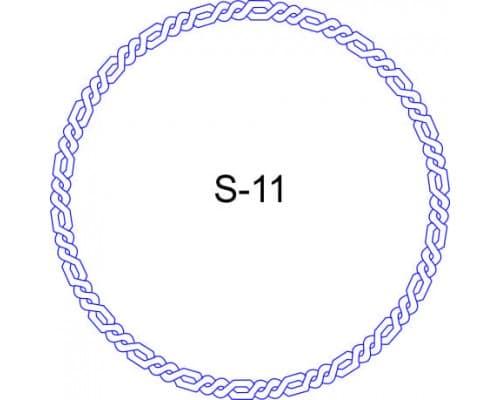 Косичка для печати образец S-11