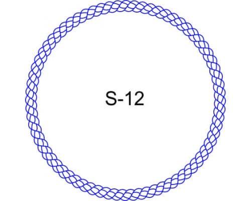 Косичка для печати образец S-12