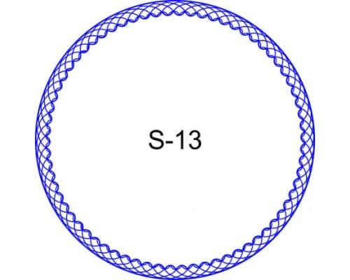 Косичка для печати образец S-13