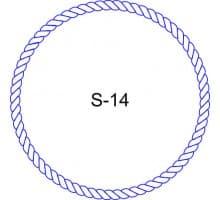 Косичка для печати образец S-14