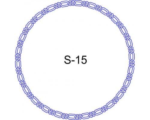 Косичка для печати образец S-15