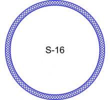 Косичка для печати образец S-16