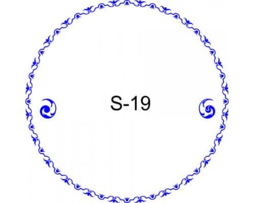 Косичка для печати образец S-19