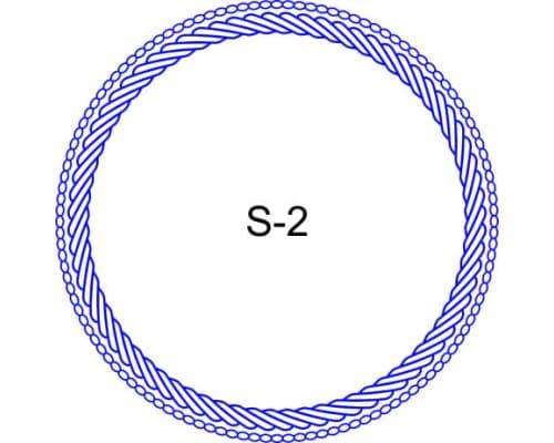 Косичка для печати образец S-2