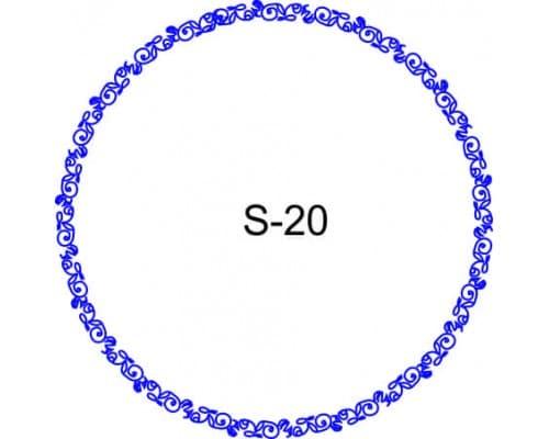 Косичка для печати образец S-20