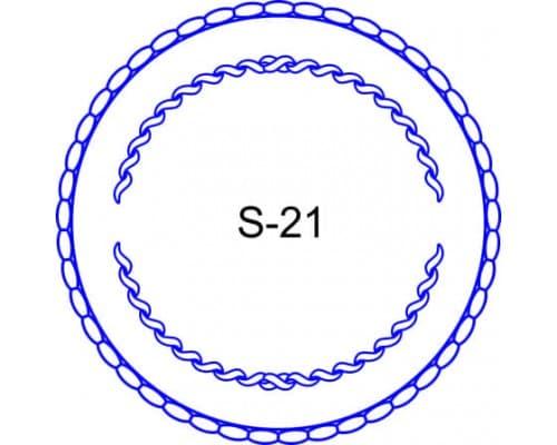 Косичка для печати образец S-21