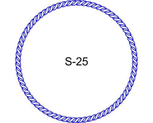 Косичка для печати образец S-25