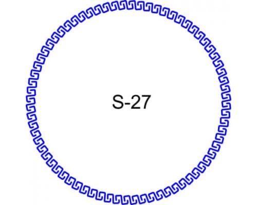 Косичка для печати образец S-27