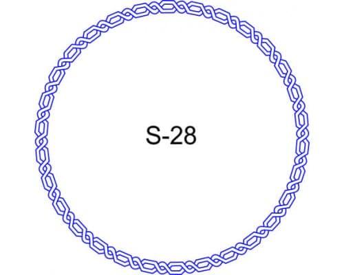 Косичка для печати образец S-28