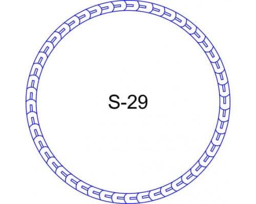 Косичка для печати образец S-29