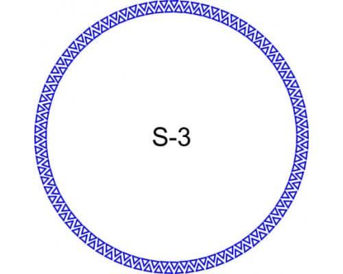 Косичка для печати образец S-3