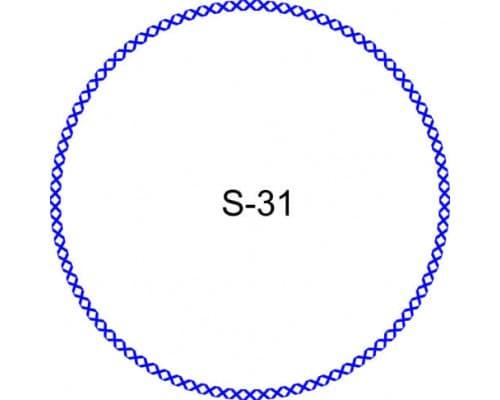 Косичка для печати образец S-31