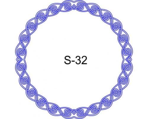 Косичка для печати образец S-32