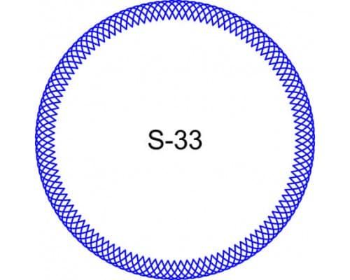 Косичка для печати образец S-33