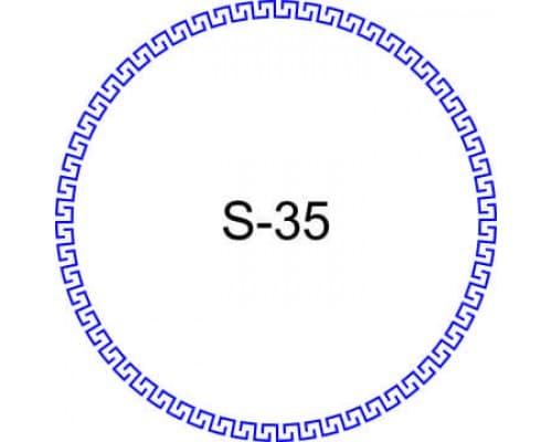 Косичка для печати образец S-35