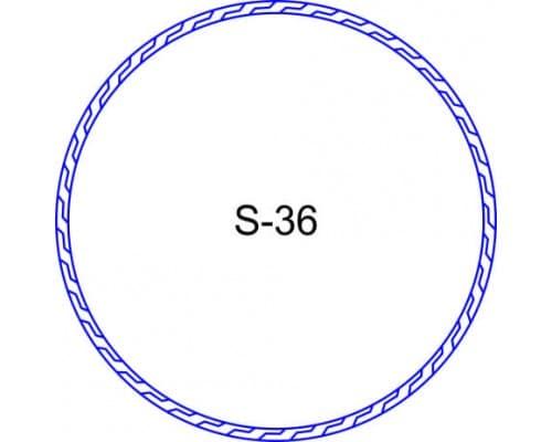Косичка для печати образец S-36