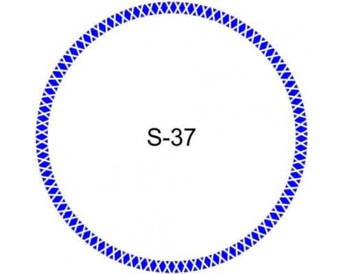 Косичка для печати образец S-37