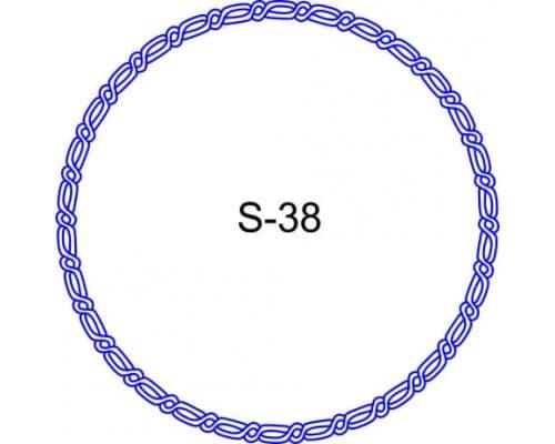 Косичка для печати образец S-38