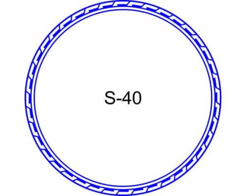 Косичка для печати образец S-40