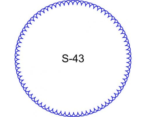 Косичка для печати образец S-43