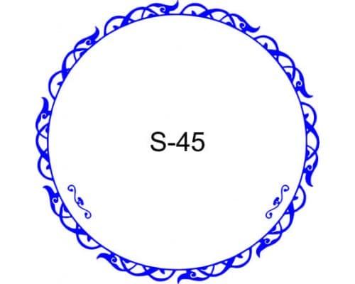 Косичка для печати образец S-45