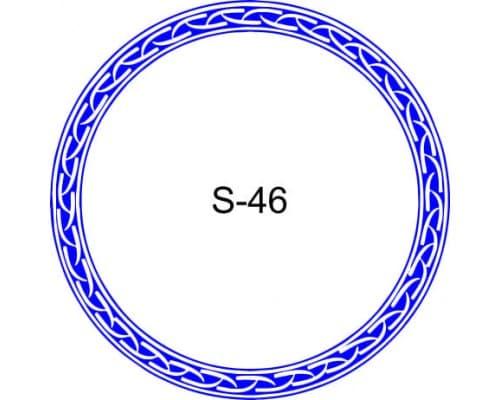 Косичка для печати образец S-46