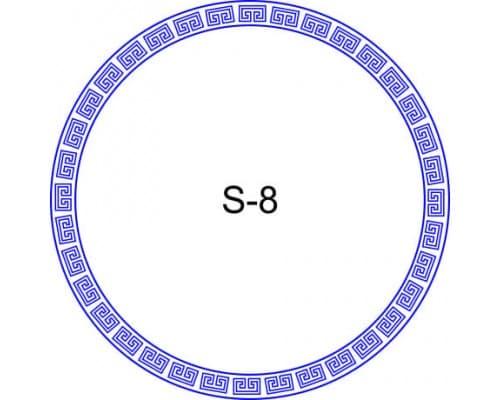 Косичка для печати образец S-8