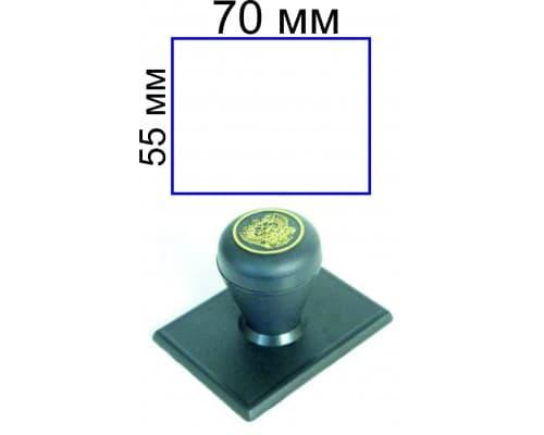 Штамп на ручной оснастке 55*70 мм (цена с учетом изготовления)